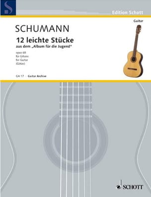 12 Ausgewählte Stücke -Gitarre SCHUMANN Partition laflutedepan