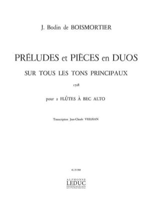 Boismortier Joseph Bodin de / Veilhan Jean-Claude - Preludes and Pieces in Duets - Alto Recorder - Sheet Music - di-arezzo.com