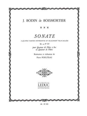 Sonate à 4 parties op. 34 n° 3 - Conducteur - laflutedepan.com
