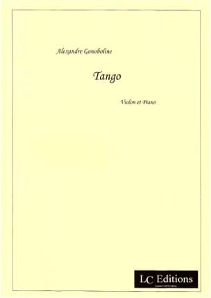 A. Gonoboline - Tango - Partition - di-arezzo.fr