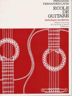 Fernando Fernandez-Lavie - Ecole de guitare - Partition - di-arezzo.fr
