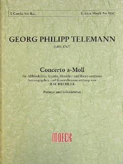Georg Philipp Telemann - Concerto A-Moll – Altblockflöte Gambe Streicher Bc (Twv52:a1) - Partition - di-arezzo.fr