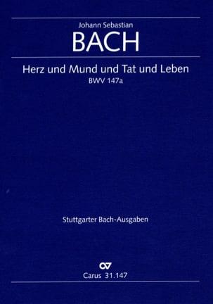 Johann Sebastian Bach - Cantate Herz und Mund und Tat und Leben BWV 147a - Partition - di-arezzo.fr