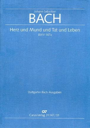 BACH - Cantata Herz und Mund and Tat und Leben BWV 147a - Sheet Music - di-arezzo.co.uk
