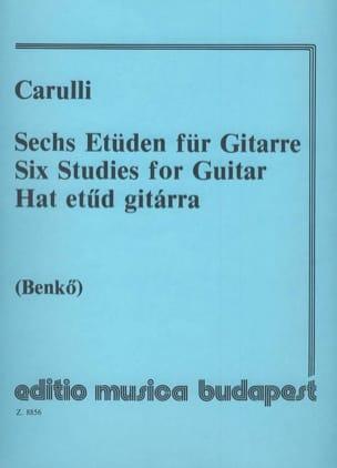 Ferdinando Carulli - 6 Etüden für Gitarre - Sheet Music - di-arezzo.co.uk
