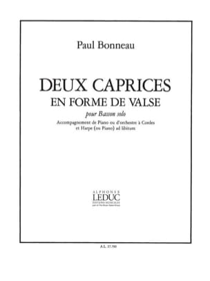 Paul Bonneau - 2 Caprices in the shape of a waltz - Sheet Music - di-arezzo.com