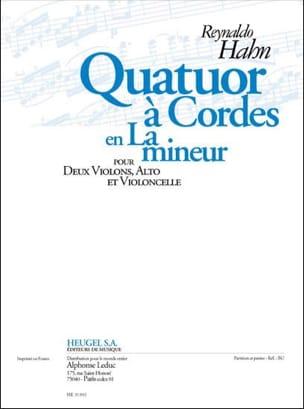 Reynaldo Hahn - Quatuor à cordes en la mineur –Parties + conducteur - Partition - di-arezzo.fr