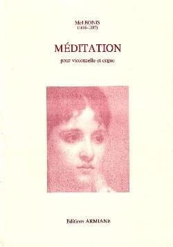 Mel Bonis - Méditation - Violoncelle et ORGUE - Partition - di-arezzo.fr