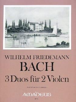 Wilhelm Friedemann Bach - 3 Duos für 2 Violen - Partition - di-arezzo.fr