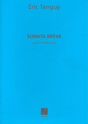Eric Tanguy - Sonata Breve - Partition - di-arezzo.fr