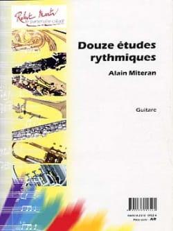 Alain Mitéran - 12 Etudes rythmiques - Partition - di-arezzo.fr