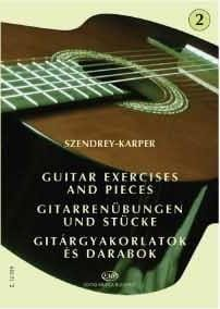 Laszlo Szendrey-Karper - Guitar exercises – Volume 2 - Partition - di-arezzo.fr