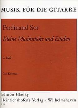Fernando Sor - Kleine Musikstücke und Etüden - Heft 2 - Partition - di-arezzo.fr