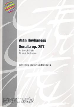 Sonata for 2 clarinets - Alan Hovhaness - Partition - laflutedepan.com