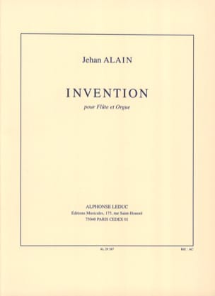Invention - Flûte orgue Jehan Alain Partition laflutedepan