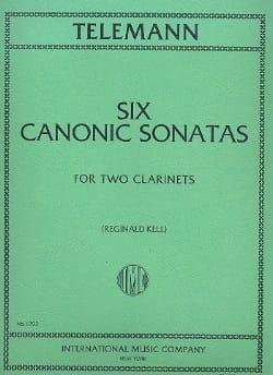 Georg Philipp Telemann - Six Canonic Sonatas – 2 Clarinets - Partition - di-arezzo.fr