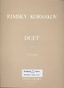 Nicolaï Rimsky-Korsakov - Duet – 2 Clarinets - Partition - di-arezzo.fr
