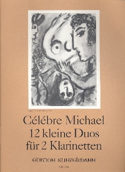 12 Kleine Duos - 2 Klarinetten Michel Célèbre Partition laflutedepan