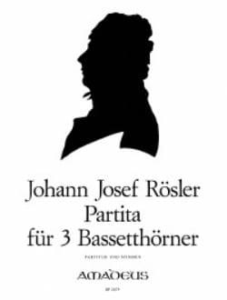 Johann Josef Rösler - Partita - 3 Bassethörner - Partitur + Stimmen - Partition - di-arezzo.fr
