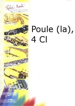 Jean-Philippe Rameau - La poule – Quatuor clarinettes - Partition - di-arezzo.fr