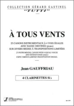 Jean Gauffriau - A tous vents – Clarinettes - Partition - di-arezzo.fr