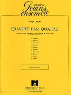 Serge Lancen - Quatre par quatre – Clarinettes - Partition - di-arezzo.fr