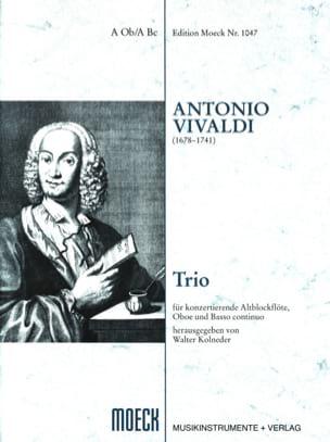 Antonio Vivaldi - Trio –Flauto dolce Oboe BC - Partitur + 3 Stimmen - Partition - di-arezzo.fr
