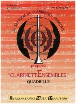 Wolfgang Amadeus Mozart - Quadrille – Clarinettes - Partition - di-arezzo.fr