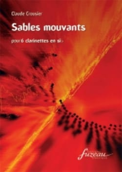 Sables mouvants Claude Crousier Partition Clarinette - laflutedepan