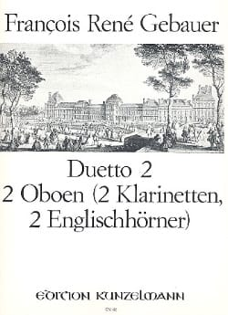 François-René Gebauer - Duetto n°2 - 2オーボエン2クラリネット、2イギリス人 - 楽譜 - di-arezzo.jp