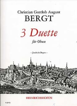 Christian Gottlob August Bergt - 3 Duette – Oboen - Partition - di-arezzo.fr