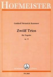 Gotthelf Heinrich Kummer - 12 Trios Op. 13 - Partition - di-arezzo.fr