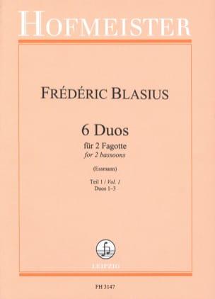 6 Duos - Teil 1 : Duos 1-3 Frédéric Blasius Partition laflutedepan