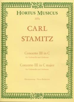 Carl Stamitz - Concerto n° 3 en do majeur – Violoncelle - Partition - di-arezzo.fr