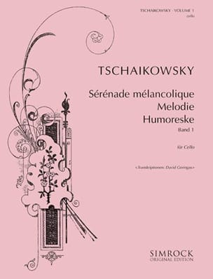 Tschaikowsky for Cello, Volume 1 TCHAIKOVSKY Partition laflutedepan