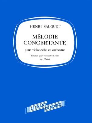 Mélodie concertante - Henri Sauguet - Partition - laflutedepan.com