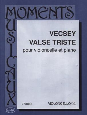 Valse triste Ferenc Vecsey Partition Violoncelle - laflutedepan