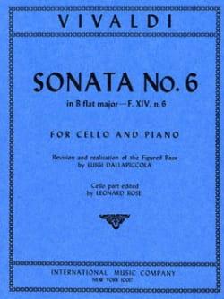 Antonio Vivaldi - Sonate n° 6 en si bémol majeur, F.14 n° 6 - Partition - di-arezzo.fr