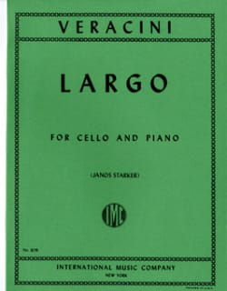 Francesco Maria Veracini - Largo – Cello - Partition - di-arezzo.fr