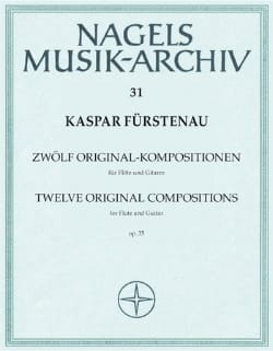 Kaspar Fürstenau - 12 Original- Kompositionen op. 35 - Flöte Gitarre - Partition - di-arezzo.fr