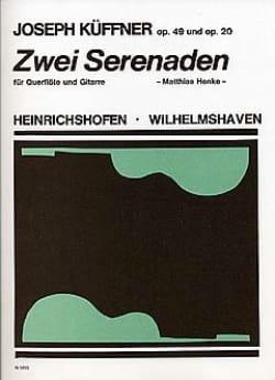 Joseph Küffner - 2 Serenaden op. 49 und 50 – Flöte Gitarre - Partition - di-arezzo.fr