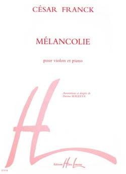 César Franck - Mélancolie - Partition - di-arezzo.fr
