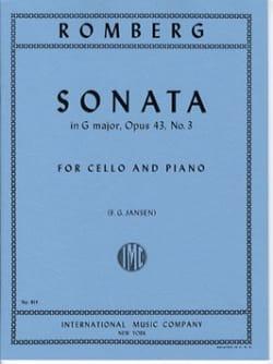 Sonate sol majeur op. 43 n° 3 ROMBERG Partition laflutedepan
