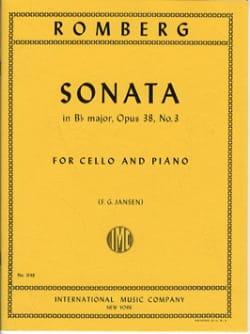 Bernhard Romberg - Sonate en si bémol maj. op. 38 n° 3 - Partition - di-arezzo.fr