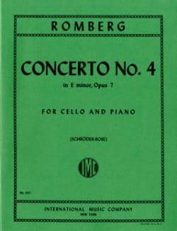 Bernhard Romberg - Concerto n° 4 en mi mineur, op. 7 - Partition - di-arezzo.fr