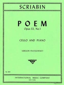 Poème op. 32 n° 1 Scriabine Alexandre / Piatgorsky Gregor laflutedepan
