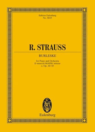 Burleske for Piano and Orchestra - Score Richard Strauss laflutedepan