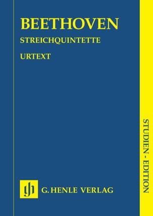 Quintettes à cordes - BEETHOVEN - Partition - laflutedepan.com