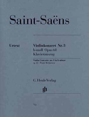 Camille Saint-Saëns - Violin Concerto No. 3 Op. 61 - Sheet Music - di-arezzo.co.uk