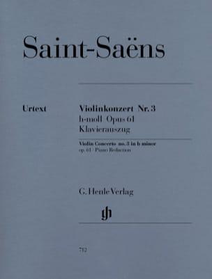 Camille Saint-Saëns - Concerto Violon N° 3 Op. 61 - Partition - di-arezzo.fr
